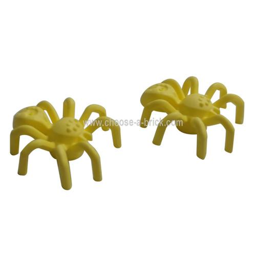 Spider with Elongated Abdomen bright light yellow