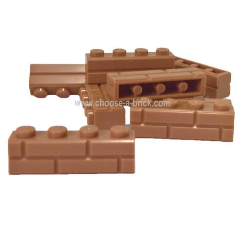 Brick, Modified 1 x 4 with Masonry Profile (Brick Profile)