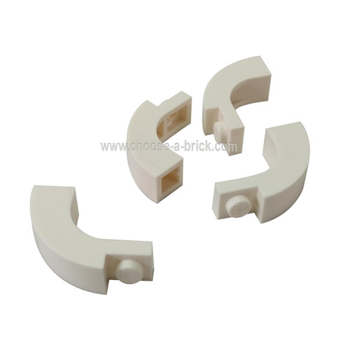 Brick, Arch 1 x 3 x 2 Curved Top white