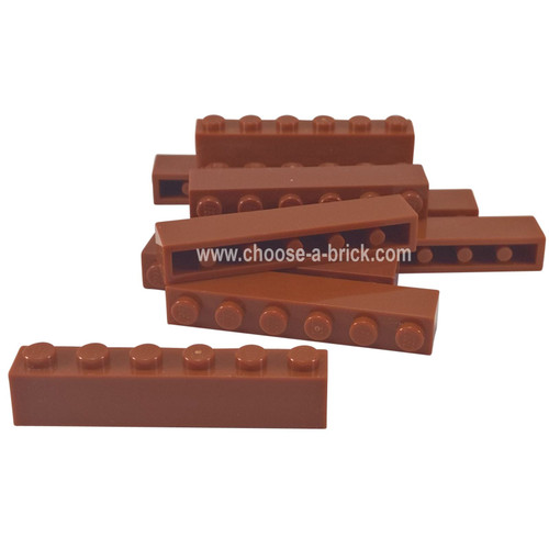 Brick 1 x 6 dark red