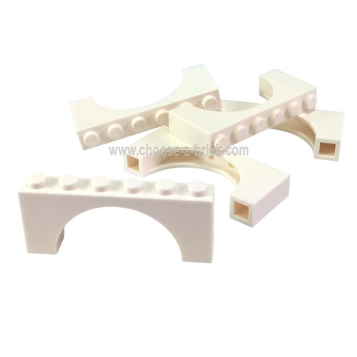 Brick, Arch 1 x 6 x 2 - Thin Top without Reinforced Underside white