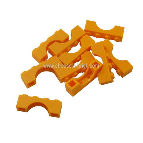 Brick, Arch 1 x 4 bright light orange