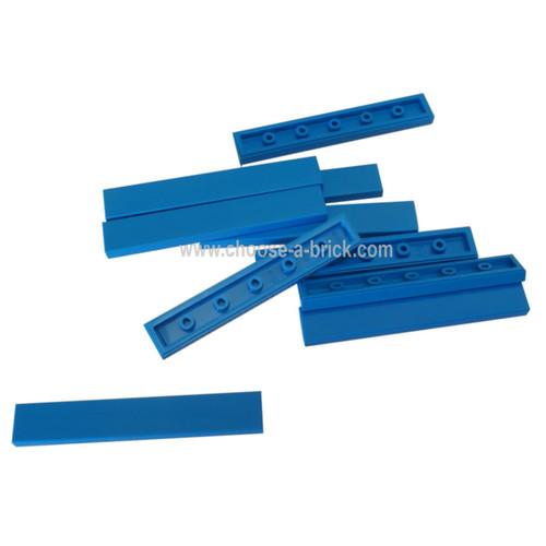 Tile 1 x 6 blue