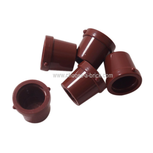 Container, Bucket 1 x 1 x 1 reddish brown
