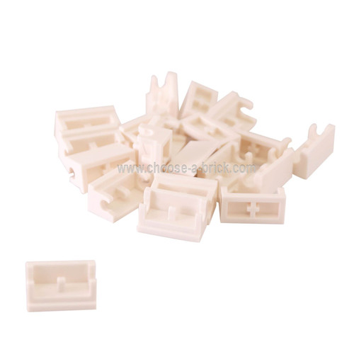 Hinge Brick 1 x 2 Base white