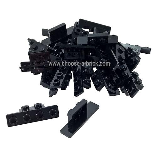 Bracket 1 x 2 - 1 x 4 with Rounded Corners black