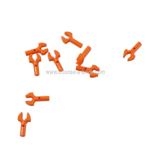 Bar 1L with Clip Mechanical Claw, Cut Edges and Hole on Side orange