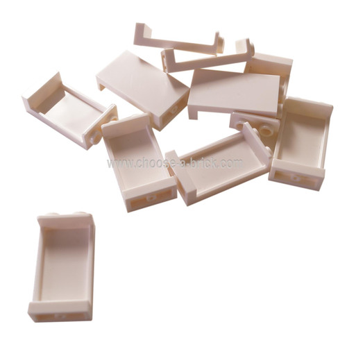 Panel 1 x 2 x 3 with Side Supports - Hollow Studs white