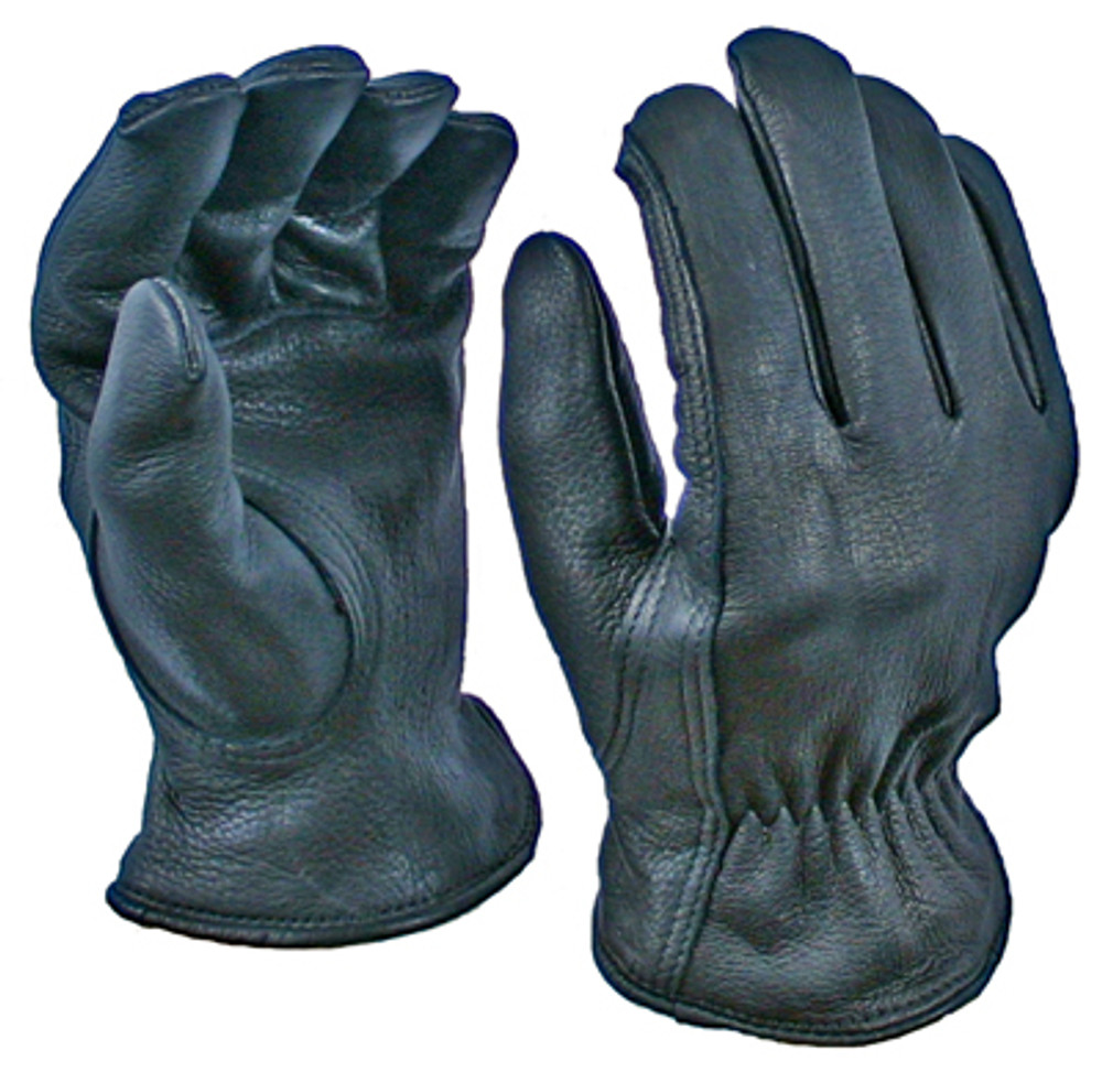 Black Deerskin Driver Glove with Thinsulate Lining