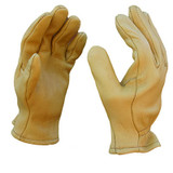 Golden Buckskin Heavy duty deerskin gloves...