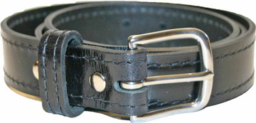 Black Amish Dress Belt with Stitching