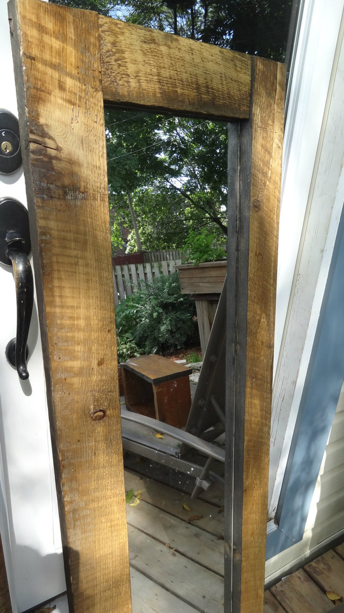 "SOLD - Two barn board mirrors measuring 20"" by 56 ..."