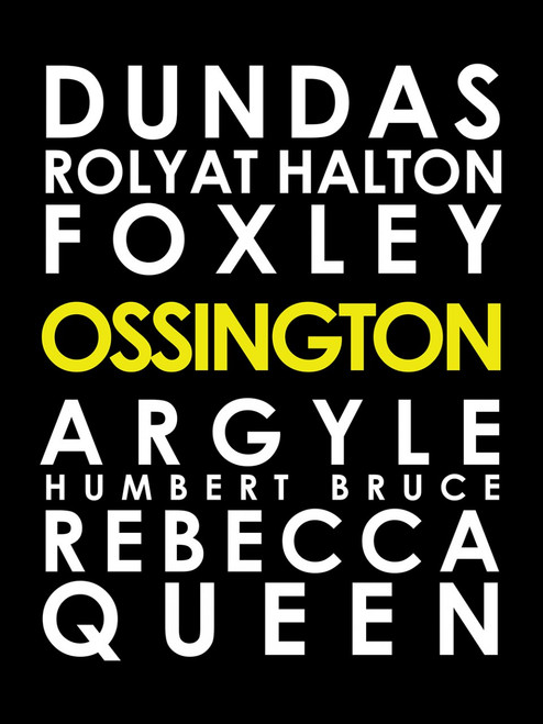 Ossington subway sign art canvas 16x24""