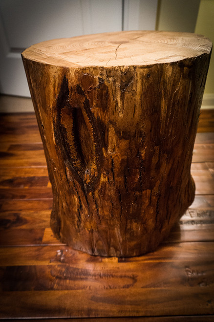 SOLD- Tree stump side table