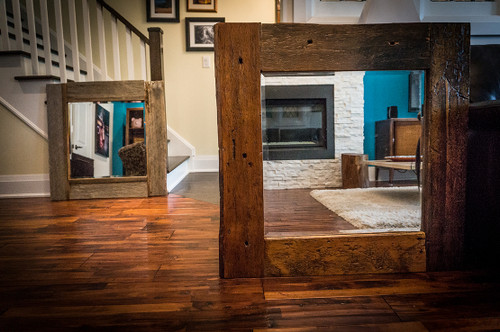 SOLD - Barn board mirrors - $250 each or both for $400