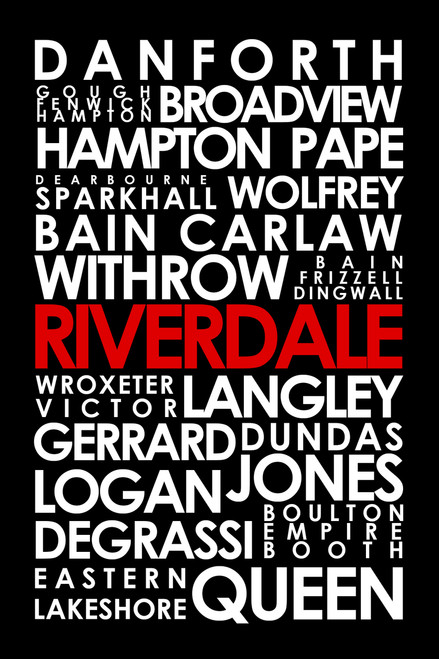 Toronto's Riverdale neighbourhood art print