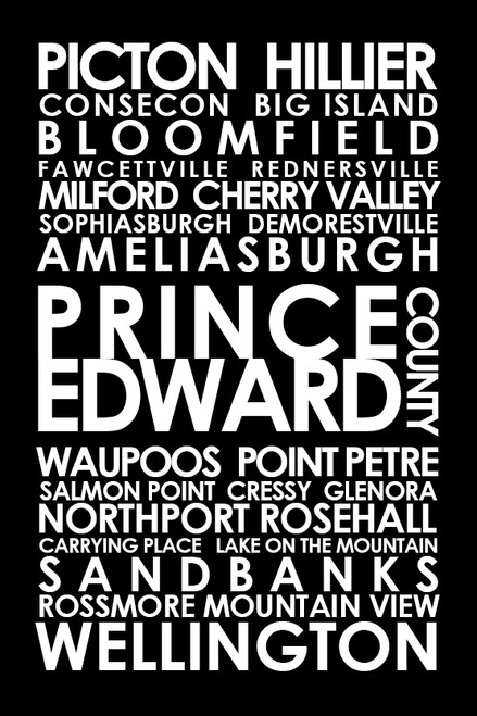 Prince Edward County subway sign art