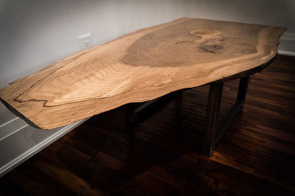 SOLD - Beautiful live edge oak coffee table