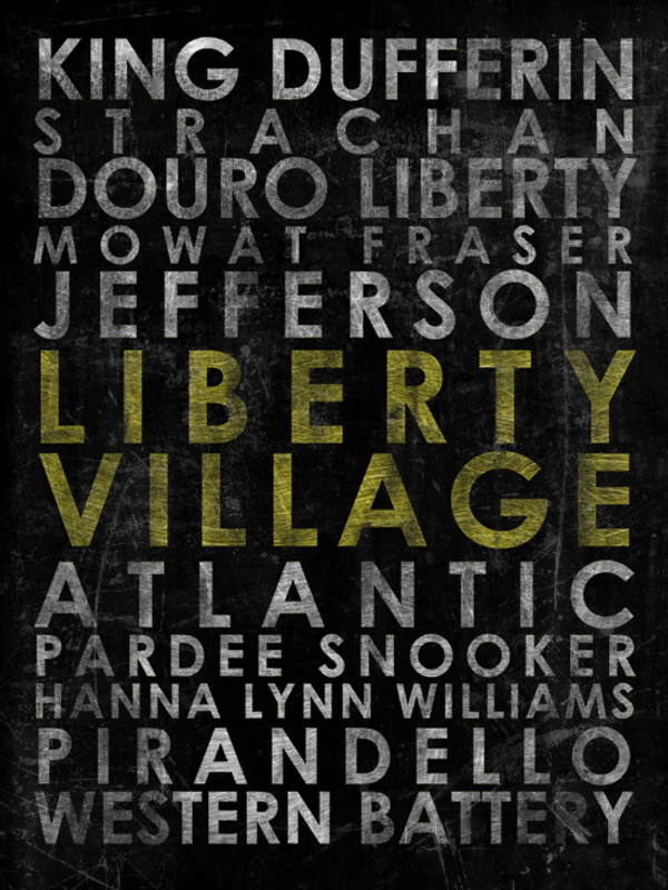 "Liberty Village 16x24"" canvas"