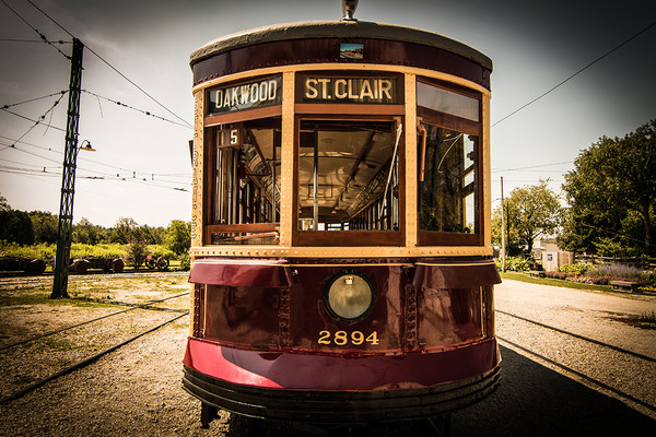 Vintage TTC streetcar No. 25, St. Clair and Oakwood