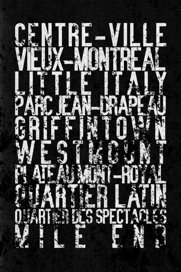 "Montreal subway sign art, 16x24"" canvas"