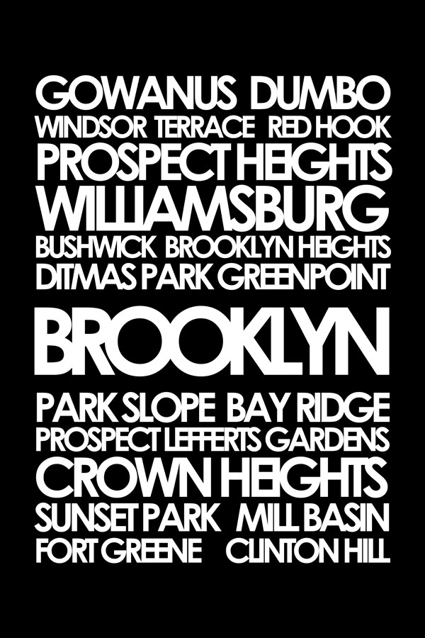 "Brooklyn subway sign art 24x32"" canvas"