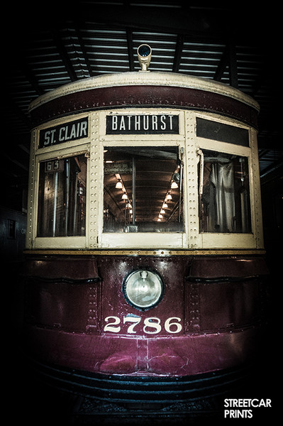 Vintage Toronto TTC streetcar No. 14 for St. Clair / Bathurst