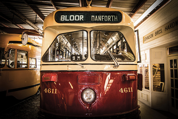 Vintage Bloor Danforth TTC streetcar No. 22