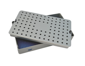 Aluminum Sterilization Tray Large 3.25'' H x 10'' L x 6'' W Deep Single Layer