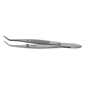 Troutman Superior Rectus Forceps, Angled 1x2 Teeth - S5-1515