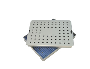 Aluminum Sterilization Tray Large Size 8.5'' x 6.75'' x 0.75'' (CalTray A5000)