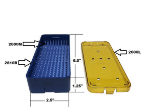 PST Micro Instrument Sterilization Tray 2.5'' x 6.0'' x 1.25'' (2610A)
