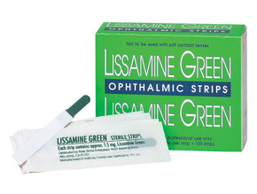Lissamine Green Test Strips