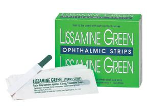 Lissamine Green Test Strips (100/Box) 1.5mg