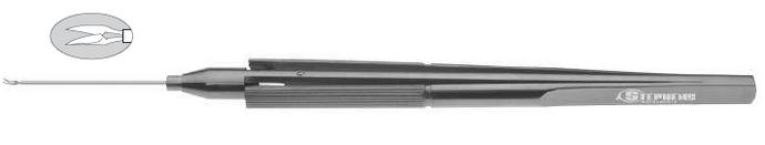 Titanium Horizontal Cutting Scissors Curved, 20Ga - ST7-1715