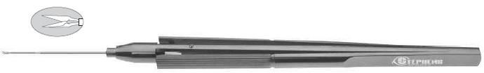 Titanium-Horizontal Cutting Scissors Pediatric, Curved, 20ga - ST7-1725