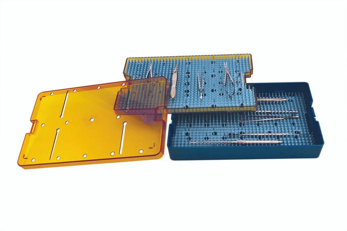 Instrument Sterilization Tray 10'' x 6'' x 1.5'' (Double Decker) (CP1038D2)