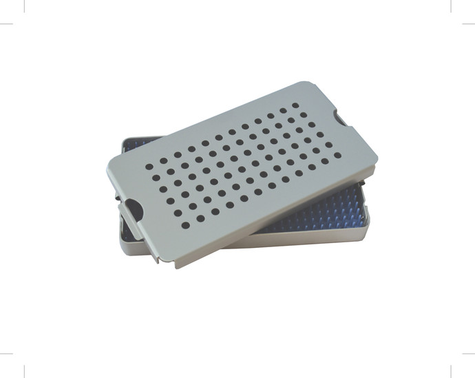 Aluminum Sterilization Tray Medium Size 7'' x 4'' x 0.75'' (CalTray A2000)