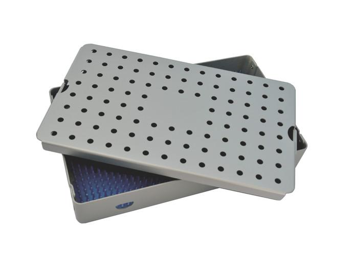 Aluminum Sterilization Tray Large Size 10'' x 6'' x 1.5'' (CalTray A4000)