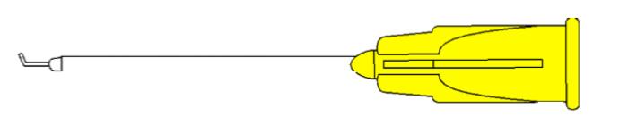 7513 Subretinal Cannula - Angled 32G