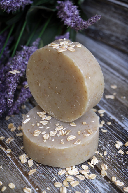 Handcrafted Lavender Oatmeal Soap