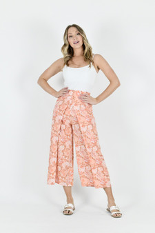 Double Layered Front Pants - Orange/Pink