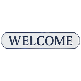 Wall Sign - Welcome metal