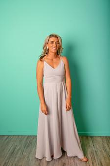 Strap Maxi Dress - Silver
