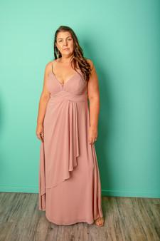 Blush Bridesmaid Ball Gown