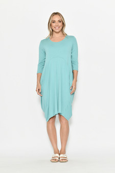 3/4 SL Cocoon Jersey Dress - Jade