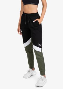 Ladies Fleece Track Pants Candid - Military