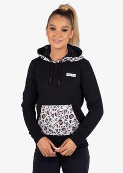 Ladies Fleece Hoodie Wildout - Leopard