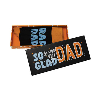 Boxed Socks – Glad You're My Dad