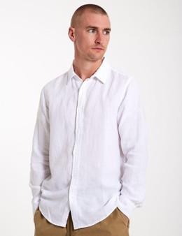 Linen LS Shirt - White